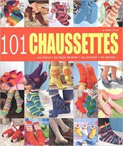 101 chaussettes au tricot en laine feutrée au crochet en spirale Editions de Saxe